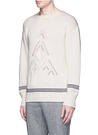 正面 -点击放大 - TOMORROWLAND - 镂空箭头图案羊毛针织衫