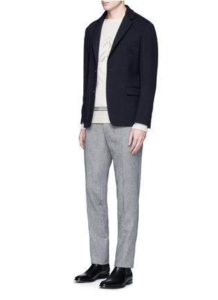 模特儿示范图 - 点击放大 - TOMORROWLAND - 镂空箭头图案羊毛针织衫