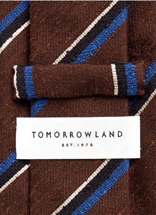 Detail View - Click To Enlarge - Tomorrowland - Stripe silk shantung tie