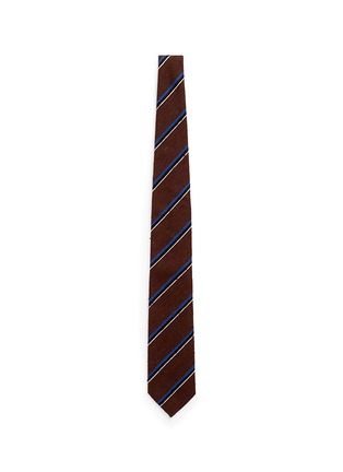 Main View - Click To Enlarge - Tomorrowland - Stripe silk shantung tie