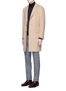 Tomorrowland Wool-cashmere flannel Chesterfield coat