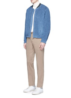 TomorrowlandStriped tweed padded bomber jacket