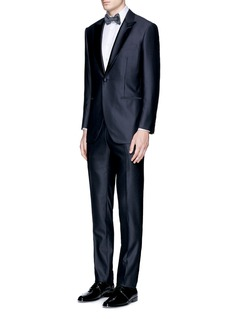 Tomorrowland Silk satin lapel wool soft tuxedo blazer