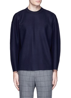 TomorrowlandRibbed shoulder wool felt sweater