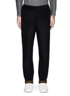 TomorrowlandDrawstring wool felt pants