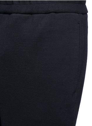 Tomorrowland-Drawstring textured wool blend pants