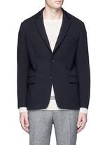 Textured wool blend soft blazer