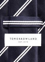 Stripe cotton-silk satin tie