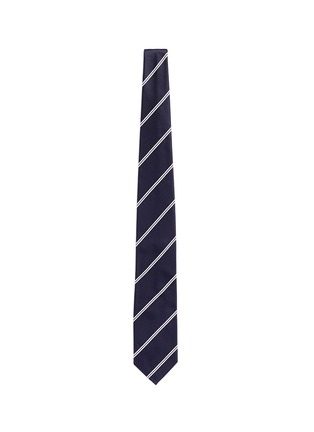 Main View - Click To Enlarge - Tomorrowland - Stripe cotton-silk satin tie