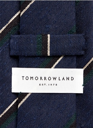 Tomorrowland - Stripe silk shantung tie