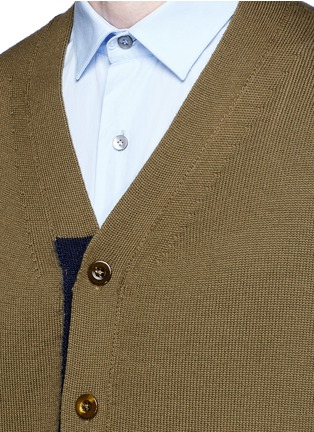 Detail View - Click To Enlarge - Tomorrowland - Contrast trim wool mohair cardigan