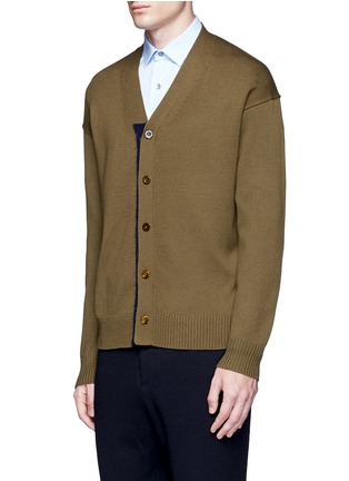 Front View - Click To Enlarge - Tomorrowland - Contrast trim wool mohair cardigan