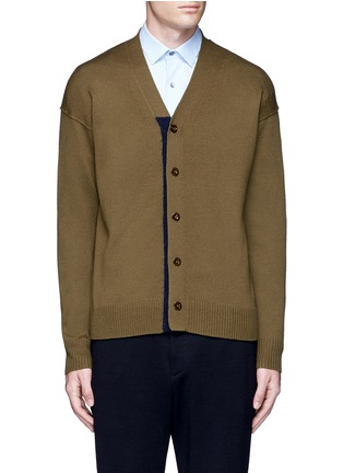 Main View - Click To Enlarge - Tomorrowland - Contrast trim wool mohair cardigan