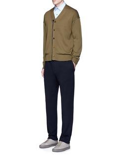 TomorrowlandContrast trim wool mohair cardigan