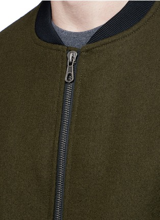 Detail View - Click To Enlarge - Tomorrowland - Wool felt bomber jacket