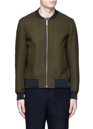Main View - Click To Enlarge - Tomorrowland - Wool felt bomber jacket