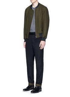 TomorrowlandWool felt bomber jacket