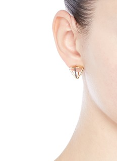 Lama Hourani Jewelry  'Evolution of Rock' diamond faceted 18k yellow gold earrings