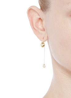 Lama Hourani Jewelry  'Evolution Of Rock' diamond 18k yellow gold earrings