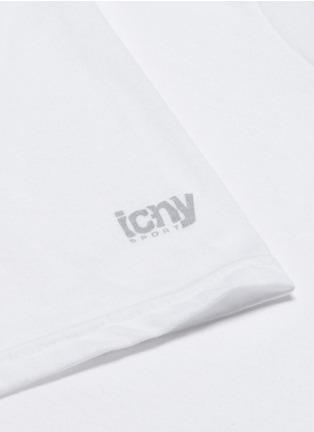 细节 - 点击放大 - ICNY - 反光标识装饰单色T恤