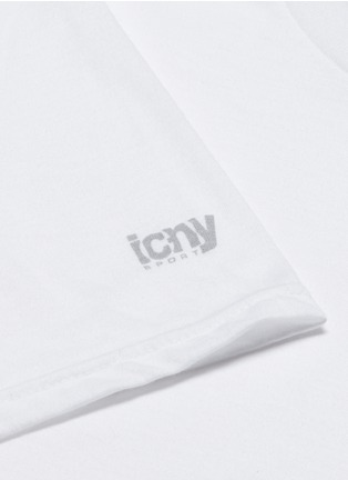 Detail View - Click To Enlarge - Icny - Reflective logo print T-shirt