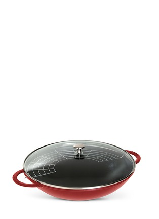 Main View - Click To Enlarge - Staub - Cast iron 37cm wok