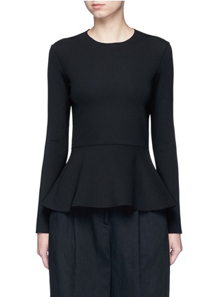 Main View - Click To Enlarge - The Row - 'Mel' scuba jersey peplum long sleeve top