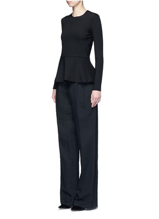 Figure View - Click To Enlarge - The Row - 'Mel' scuba jersey peplum long sleeve top