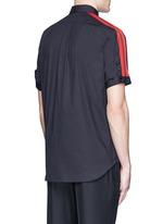 'Brad Pitt' grosgrain stripe stud cotton shirt
