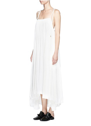 Front View - Click To Enlarge - Lanvin - Gathered techno satin two-way dress