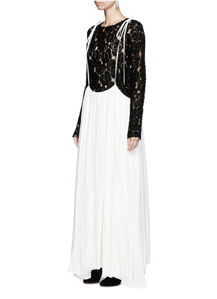 Figure View - Click To Enlarge - Lanvin - Gathered techno satin two-way dress