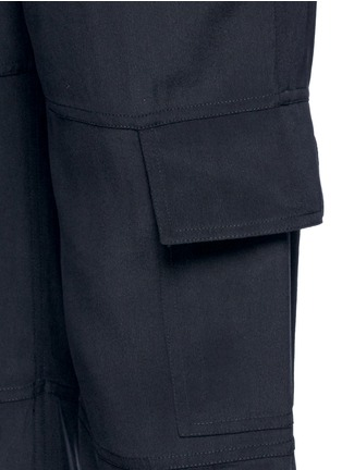 Detail View - Click To Enlarge - Theory - 'Hamtana' elastic waist silk habotai cargo pants