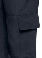 'Hamtana' elastic waist silk habotai cargo pants