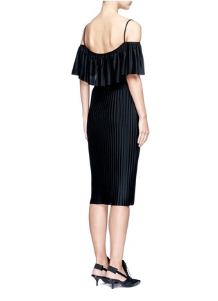 Back View - Click To Enlarge - Givenchy - Off-shoulder plissé pleat dress