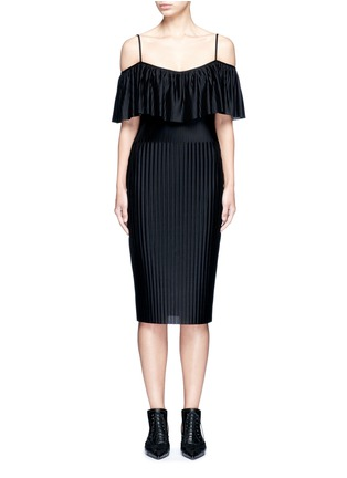 Main View - Click To Enlarge - Givenchy - Off-shoulder plissé pleat dress
