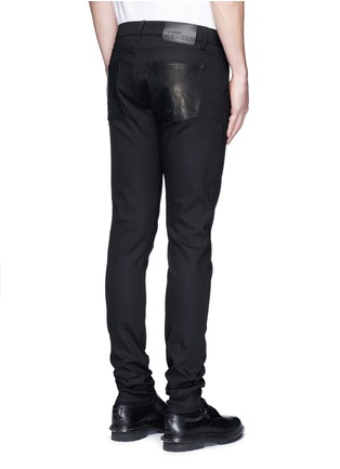 Back View - Click To Enlarge - Alexander McQueen - Leather pocket denim pants