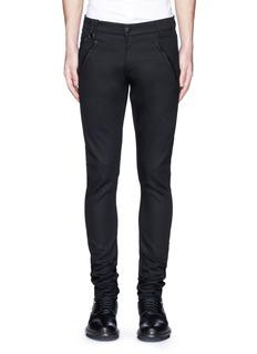 Alexander McQueenLeather pocket denim pants