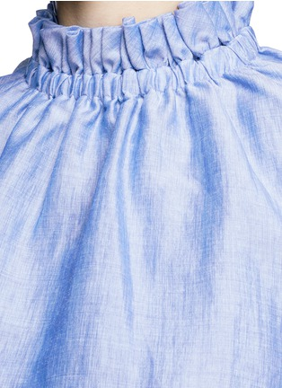 Detail View - Click To Enlarge - Co - Ruffle neck layered chambray sleeveless top