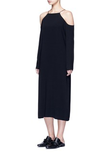 THE ROW 'Cady' cold shoulder midi dress