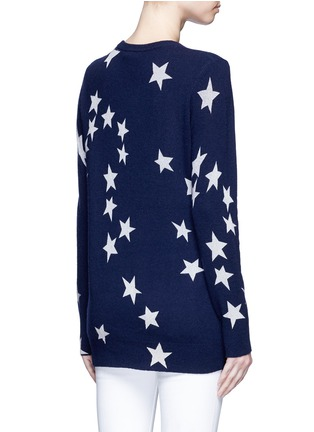 Back View - Click To Enlarge - Equipment - 'Rei' star intarsia cashmere sweater
