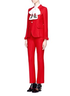 Gucci Wool-silk flared pants