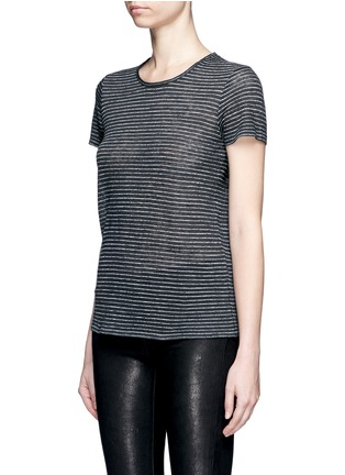 Front View - Click To Enlarge - rag & bone/JEAN - 'Summer Stripe' textured linen-cotton T-shirt