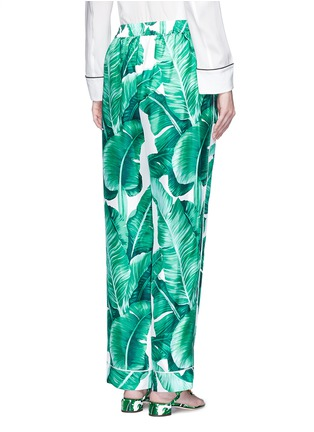 Back View - Click To Enlarge - Dolce & Gabbana - Banana leaf print silk pyjama pants