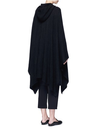 Back View - Click To Enlarge - The Row - 'Asham' hooded cashmere-silk cape