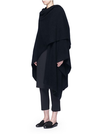 Figure View - Click To Enlarge - The Row - 'Asham' hooded cashmere-silk cape