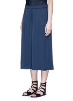 Washed satin wide leg culottes