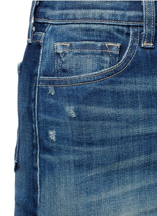 Detail View - Click To Enlarge - J Brand - 'Rosalie' button denim skirt