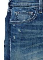 'Rosalie' button denim skirt