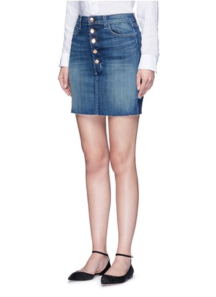 Front View - Click To Enlarge - J Brand - 'Rosalie' button denim skirt