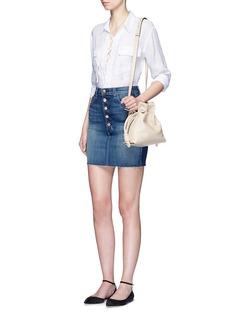 J BRAND'Rosalie' button denim skirt